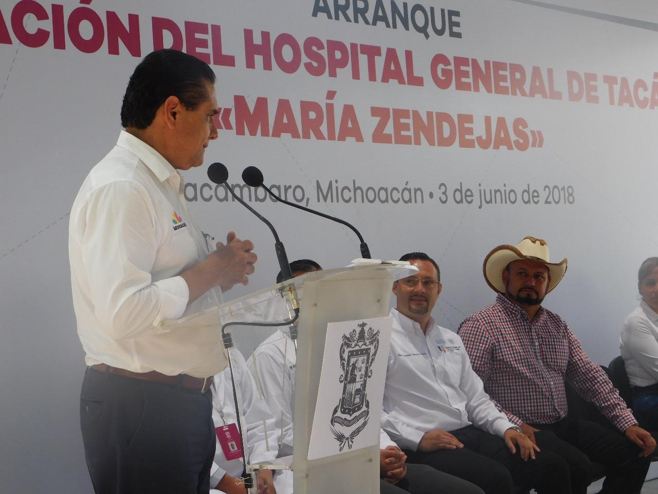 ARRANCA DIGNIFICACIÓN DEL HOSPITAL MARÍA ZENDEJAS