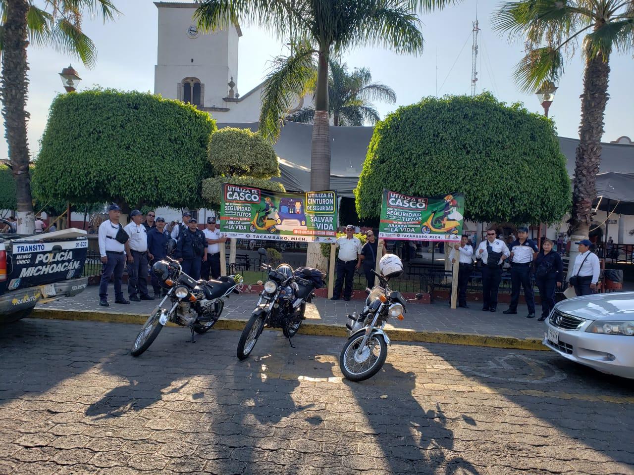 EN TACÁMBARO INICIA CAMPAÑA DE CONCIENTIZACIÓN SOBRE  USO DE CASCO, CINTURÓN DE SEGURIDAD Y ALCOHOL AL CONDUCIR.