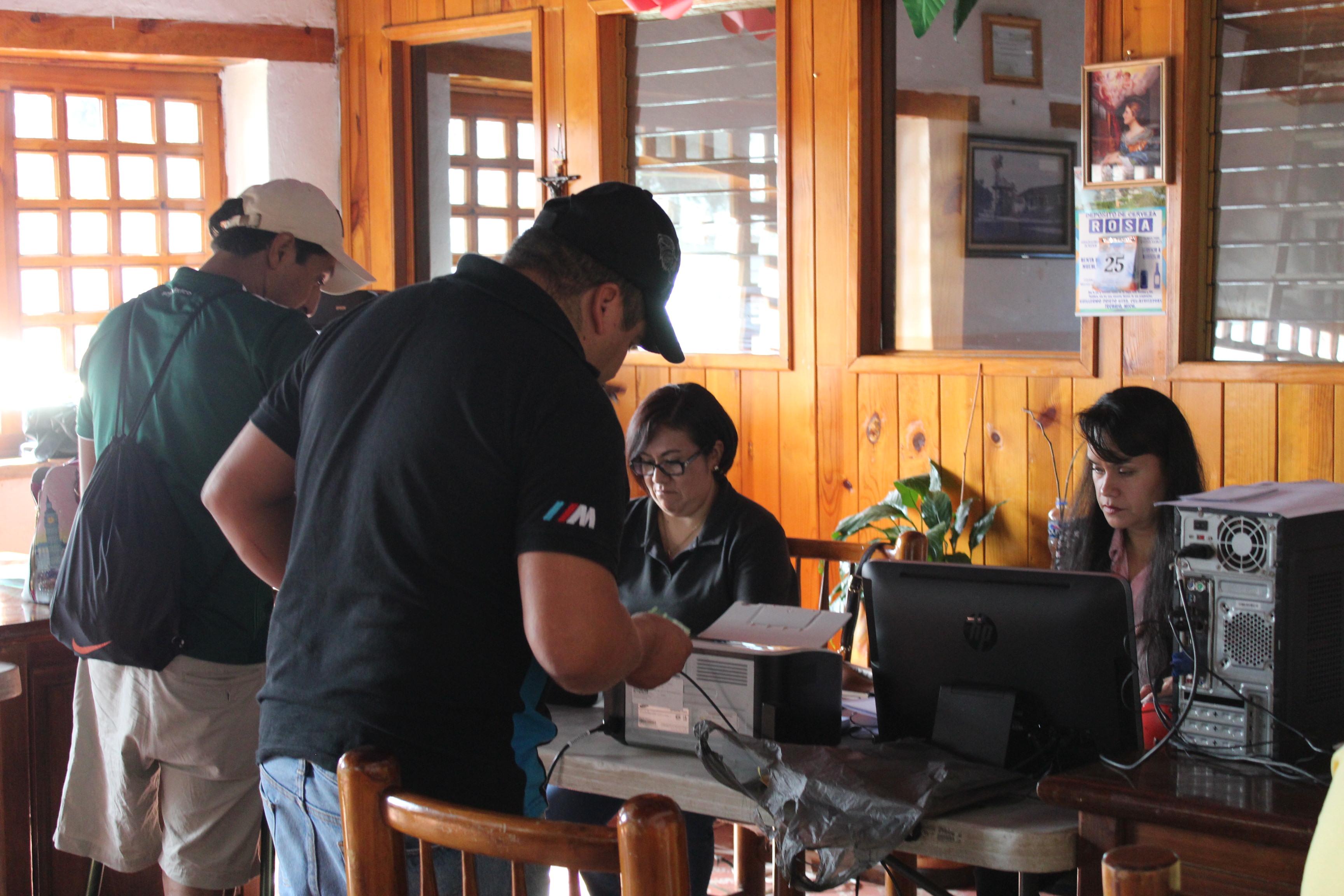 Con buenos resultados, el  Módulo Móvil para  Cobro del Predial y Expedición de Licencias Municipales  en Tecario.