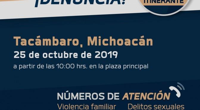 Unidad Móvil del Ministerio Público Itinerante, este viernes en Tacámbaro.