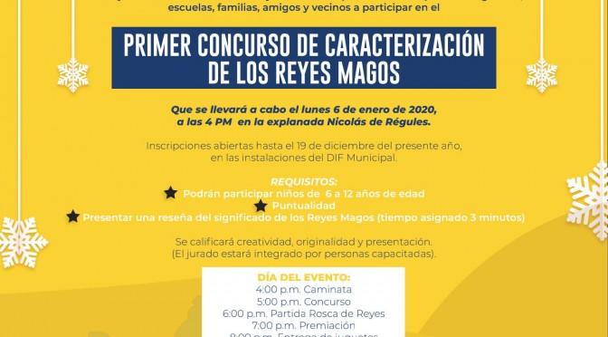 DIF Tacámbaro convoca a participar en concurso de caracterización de Reyes Magos.