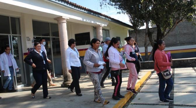 Instituciones de Tacámbaro se unen a simulacro de sismo.
