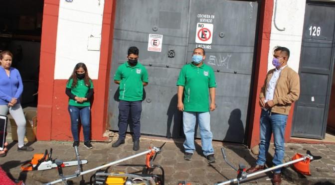 """<h2><span style=""""color: #ffcc00;"""">     Ayuntamiento entrega herramientas a Guerreros Verdes.</span></h2>"""